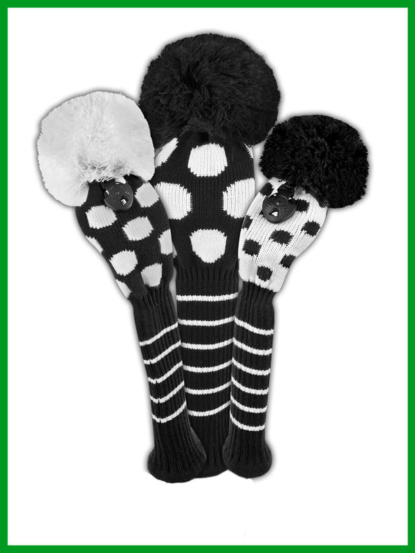 Dot Headcover Set - Black and White