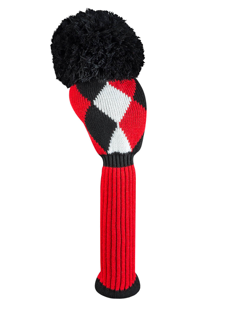 Diamond Driver Headcover - Red, Black, & White