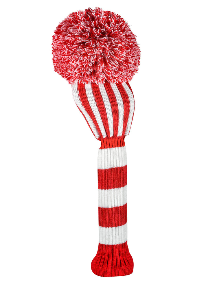 Vertical Stripe Driver Headcover - Red & White