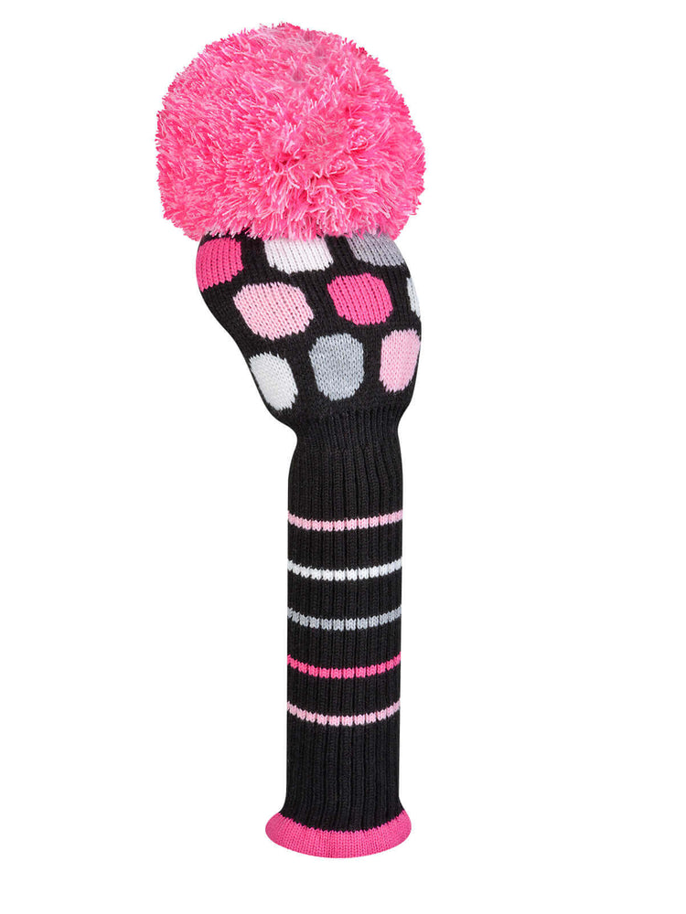 Large Dot Driver - Pink, Black, Gray, White