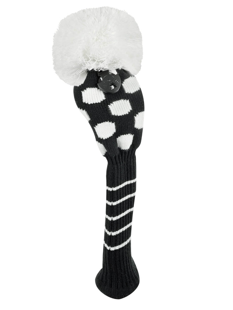 Medium Dot Fairway Headcover - Black & White