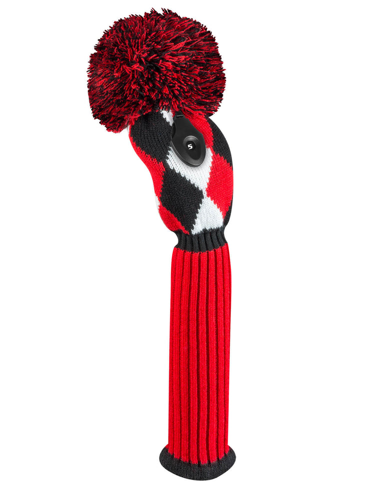 Diamond Fairway Headcover Red, Black, & White