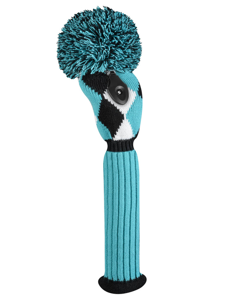 Diamond Fairway Headcover -Turquoise, Black, & White - SOLD OUT
