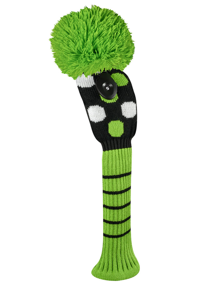 Medium Multi Dot Fairway Headcover - Lime, White, & Black