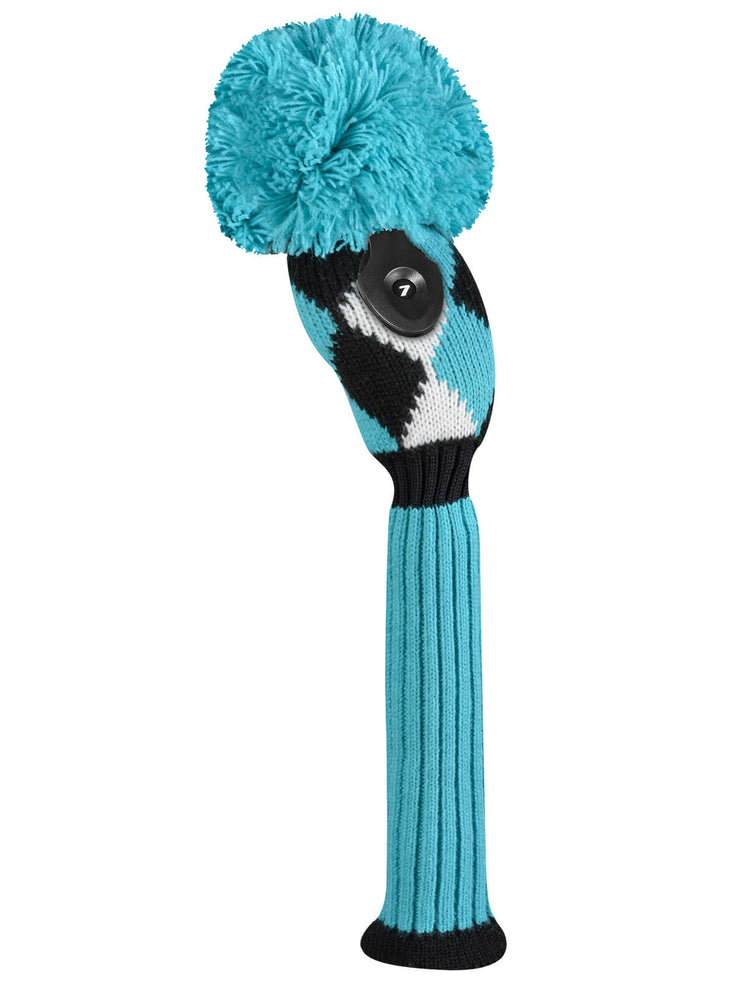 Diamond Hybrid Headcover - Turquoise, White and Black