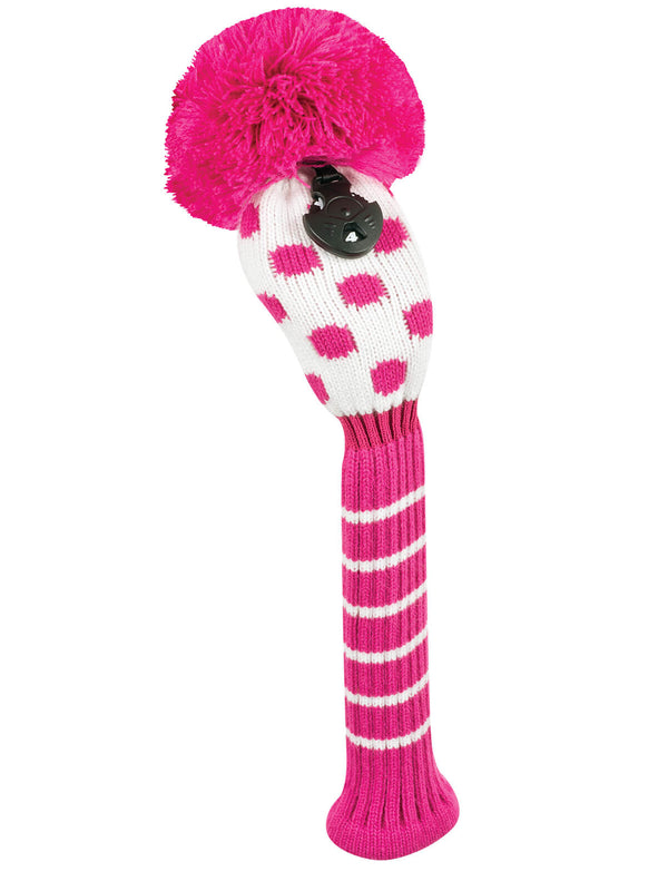 Small Dot Hybrid Headcover - Pink & White