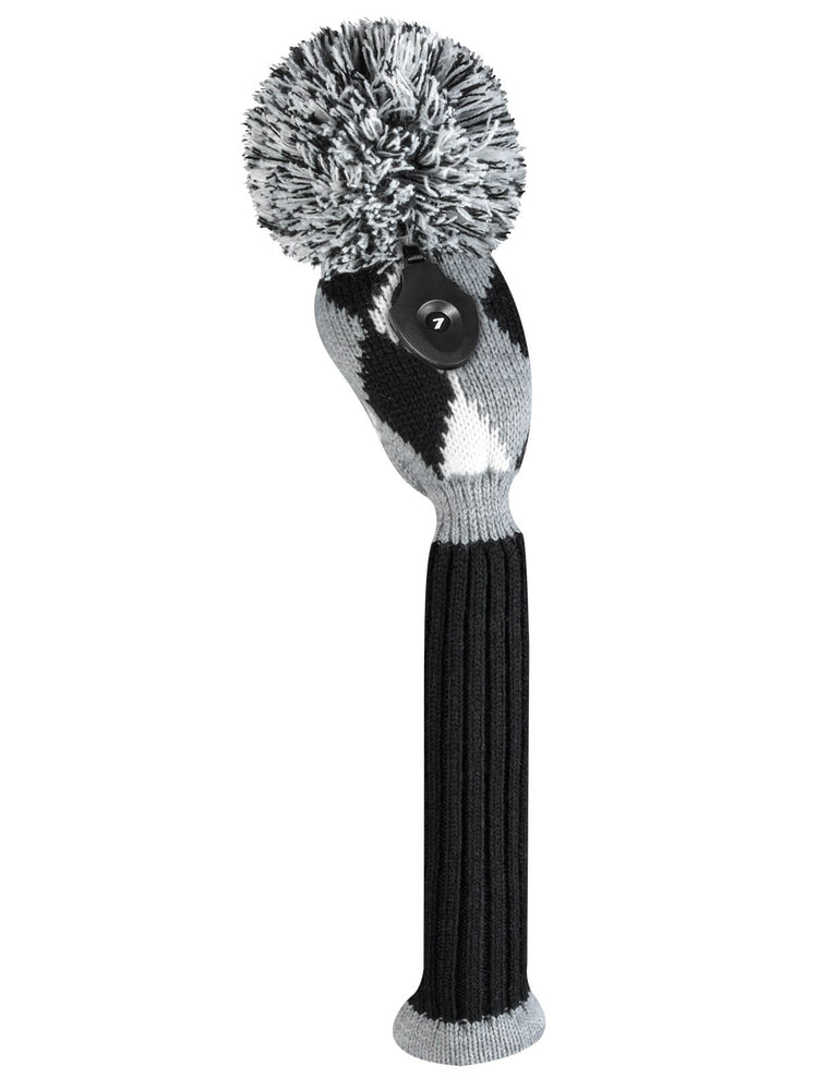 Diamond Gray Black and White Hybrid Headcover - OUT OF STOCK