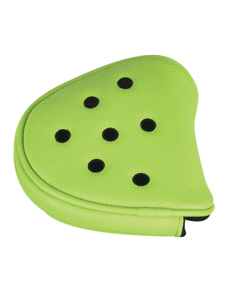 Dot Mallet Putter Cover - Lime & Black