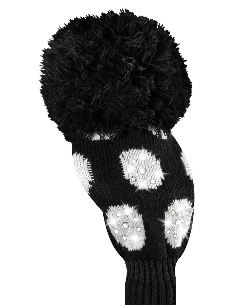 Sparkle Large Dot Driver Headcover - Black & White