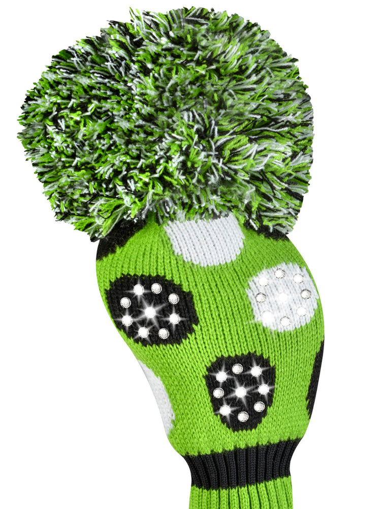 Sparkle Lime Multi Dot Driver Headcover - Lime, Black, White - SOLD OUT