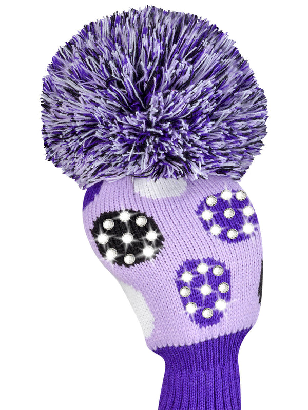 Sparkle Large Multi Dot DriverHeadcover - Purple, White