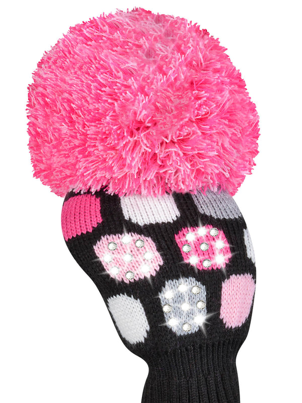 Sparkle Large Dot Driver Headcover - Pink, Black, Gray,White