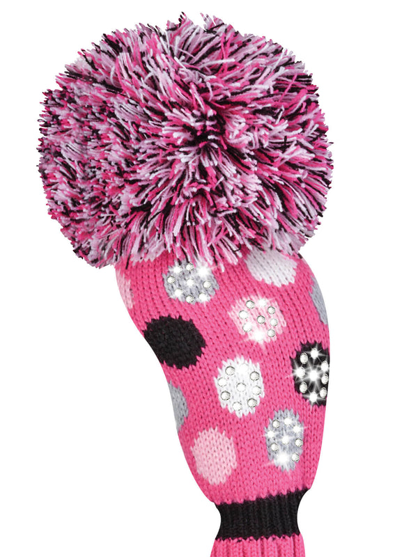 Sparkle Medium Dot Fairway Headcover - Pink, White, Black, Grey