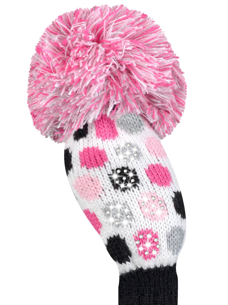 Sparkle Small Dot Hybrid Headcover - White, Pink, Black, Grey