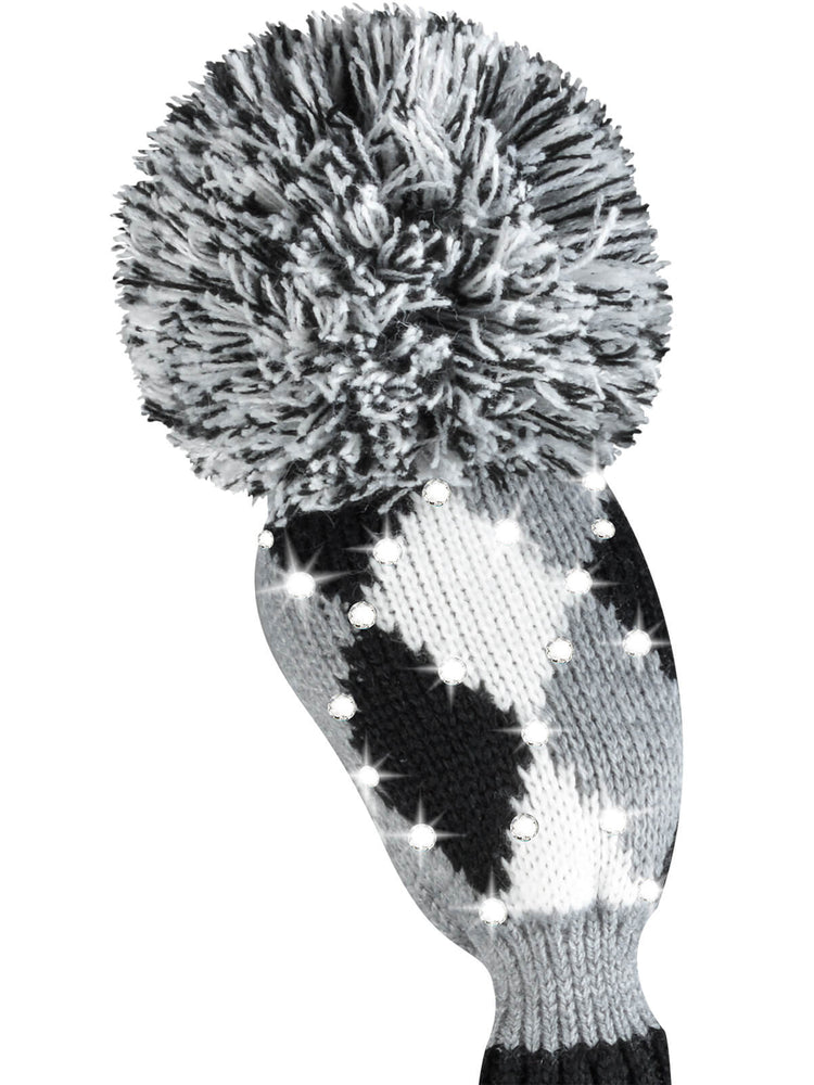 Sparkle Diamond Hybrid Headcover - Gray, White, Black