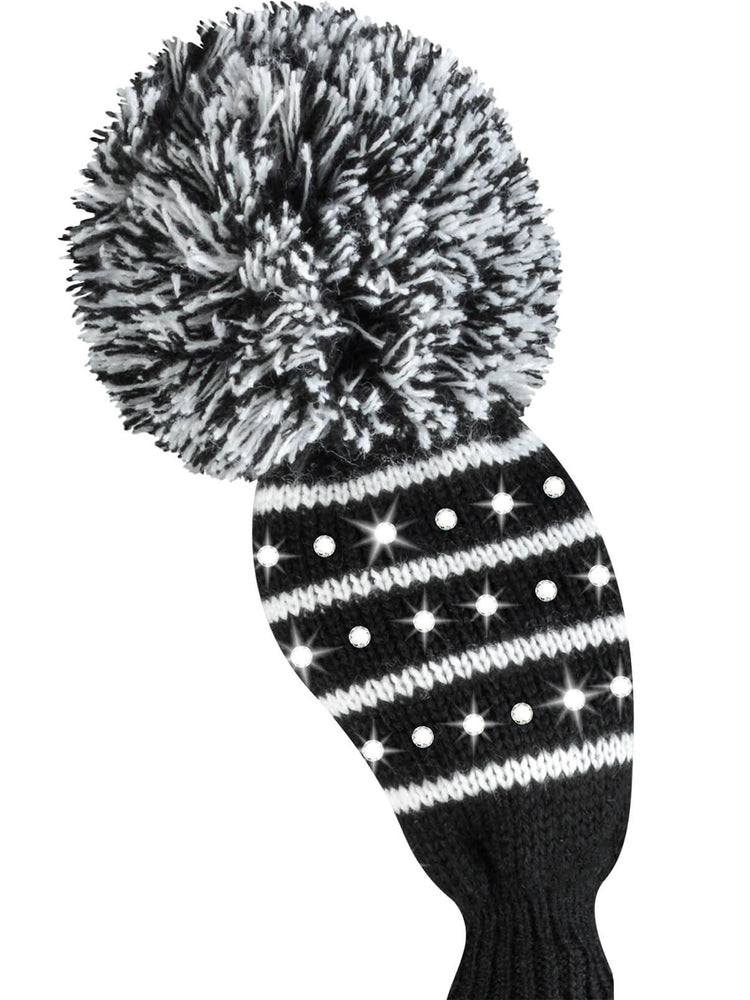 Sparkle Color Mini Stripe Hybrid Headcover - Black & White