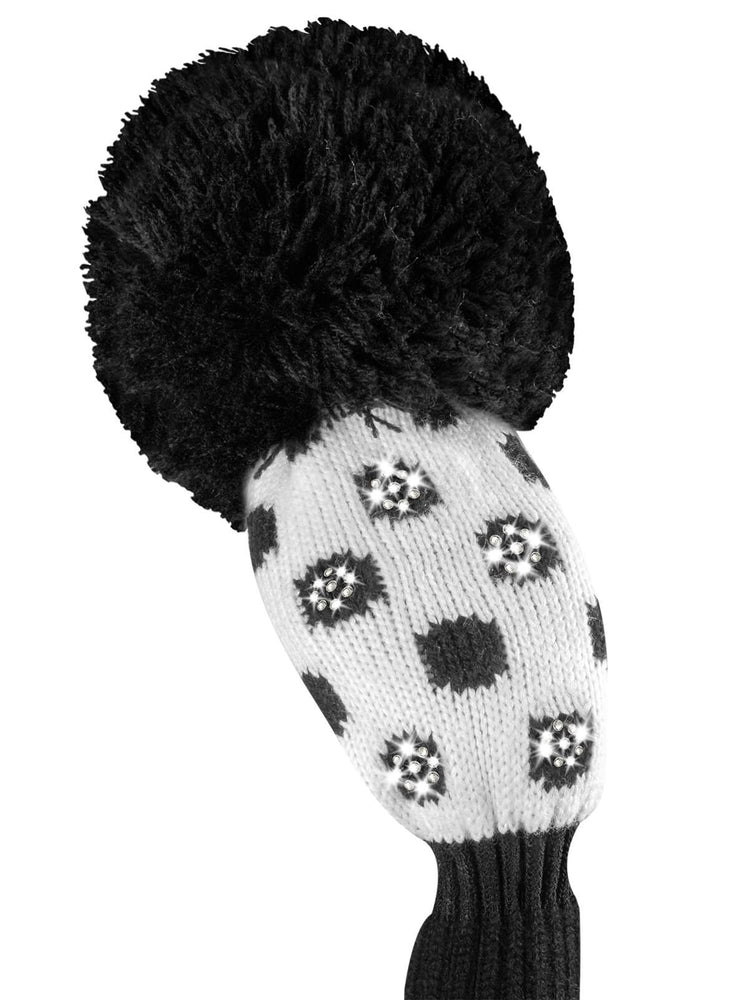 Sparkle Small Dot Hybrid Headcover - Black & White