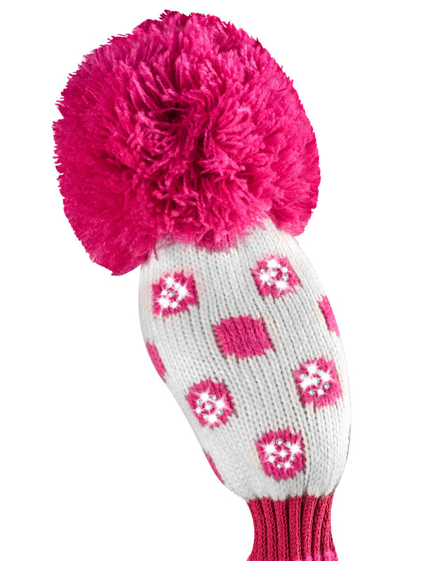 Sparkle Small Dot Hybrid Headcover - Pink & White