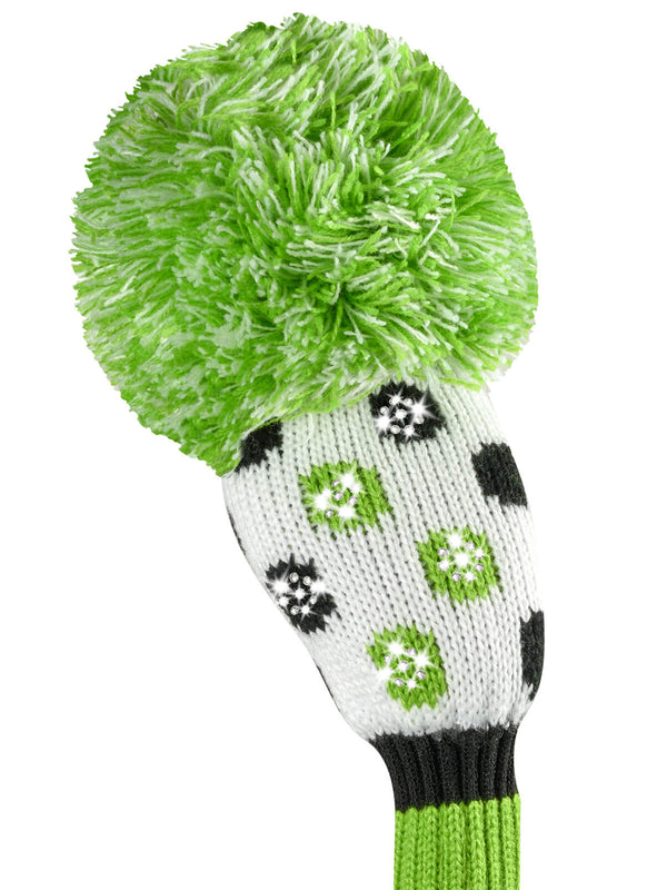 Sparkle Multi Dot Hybrid Headcover - Lime, Black, & White