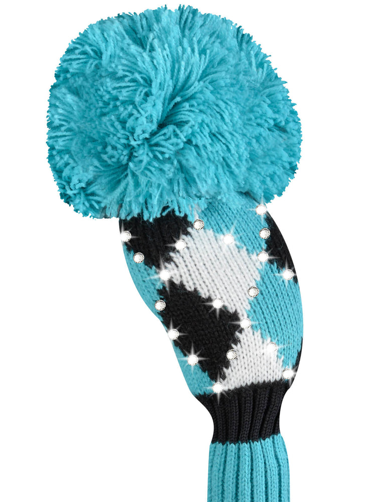 Sparkle Diamond Hybrid Headcover - Turquoise, White, Black- SOLD OUT