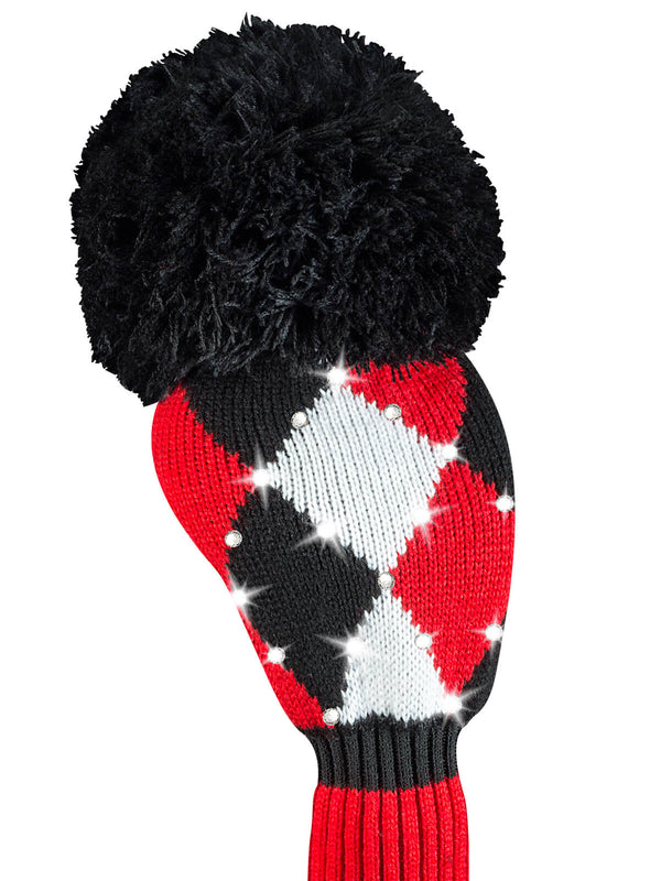 Sparkle Diamond Driver Headcover - Red, Black, White