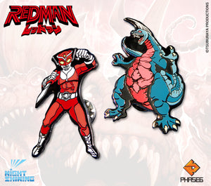 Redman: The Kaiju Hunter Collectible Pin Set