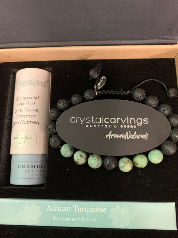 Crystal carvings essential oil bracelet kit