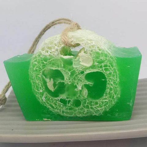 Sea Witch Loofah Bar Soap With Tea Tree & Lime Essential Oils - The Druid's Kitchen