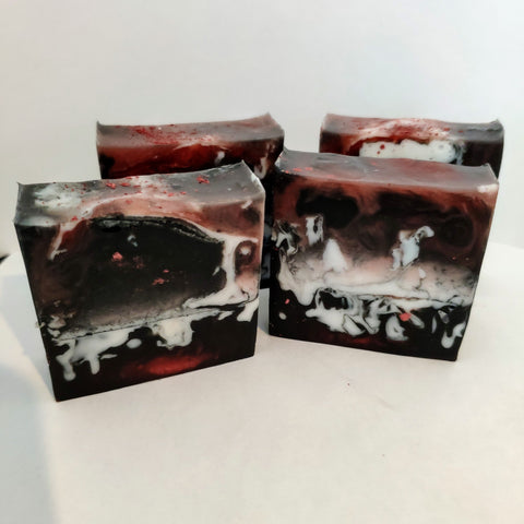Dragon's Blood Loaf Slice Bar Soap with Kaolin Clay - The Druid's Kitchen