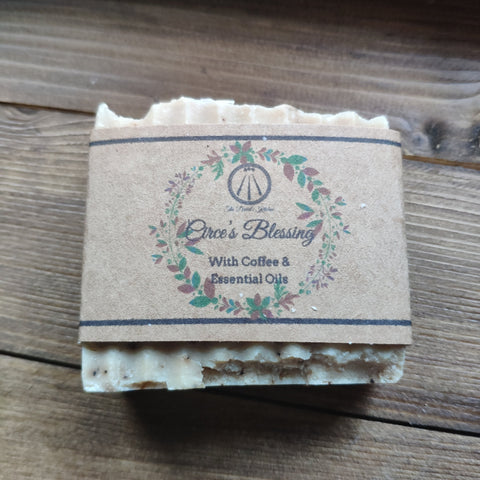 Circe's Blessing Bar Soap With Coffee, Lavender and Tea Tree Essential Oils - The Druid's Kitchen
