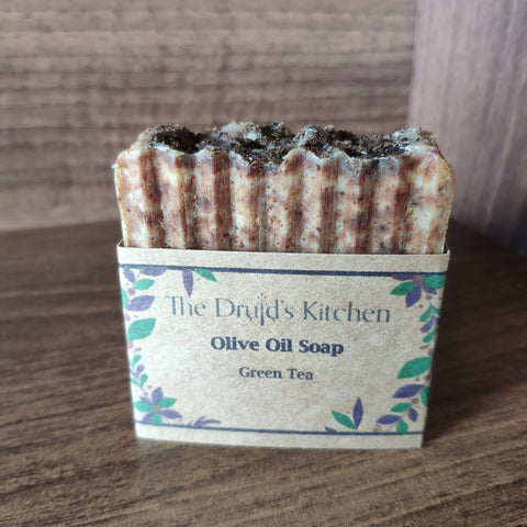 Olive Oil Bar Soap with Green Tea - The Druid's Kitchen
