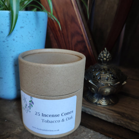 Tobacco & Oak Incense Cones by The Druid's Kitchen