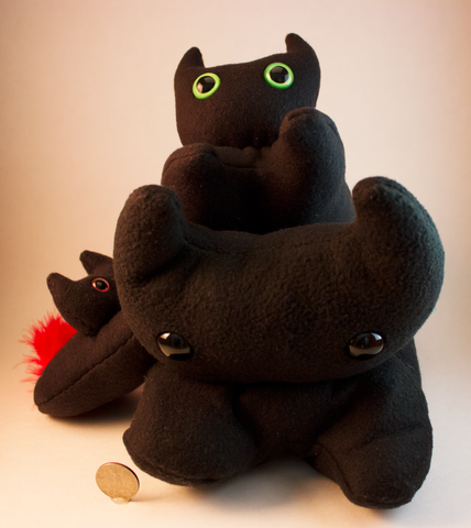 Black Frightdorable Cat, Plushies - Team Manticore