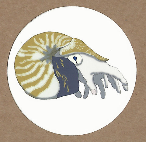 Creepy Cephalopod Sticker, Sticker - Team Manticore