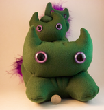 Dark Green Frightdorable Cat, Plushies - Team Manticore
