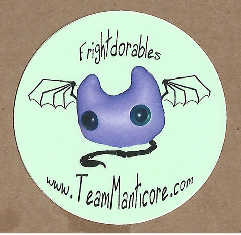 Frightdorable Cats Sticker, Sticker - Team Manticore