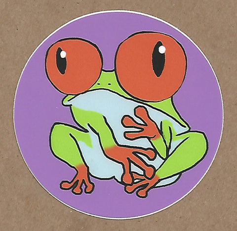 Cute Tree Frog Sticker, Sticker - Team Manticore