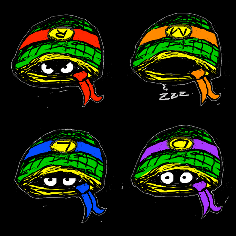 Ninja Turtle Shells (Teenage Mutant Ninja Turtles), Print - Team Manticore