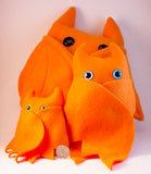 Orange Frightdorable Bat, Plushies - Team Manticore