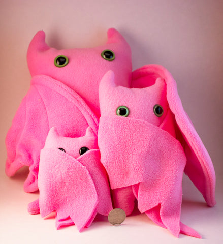 Pink Frightdorable Bat, Plushies - Team Manticore