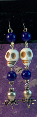 Skull Beach Earrings, Jewelry - Team Manticore