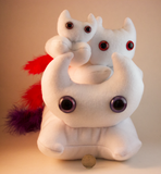 White Frightdorable Cat, Plushies - Team Manticore