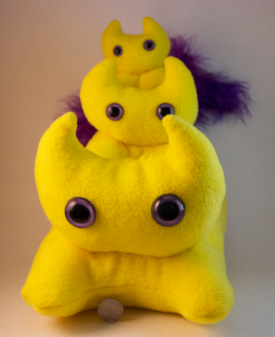 Yellow Frightdorable Cat, Plushies - Team Manticore