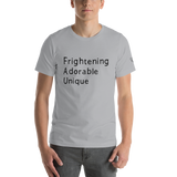 Frightening Adorable Unique in Black Text (Mens)