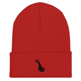 Black Rabbit Cuffed Beanie, [product_type] - Team Manticore