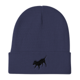 Black Dog Knit Beanie, [product_type] - Team Manticore