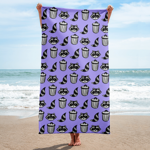Raccoon Pattern Towel