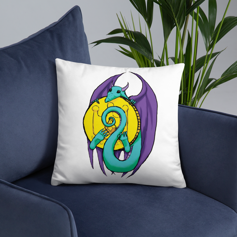 Little Dragon's Horde Basic Pillow, [product_type] - Team Manticore