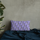 Raccoon Pattern Pillow