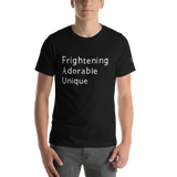 Frightening Adorable Unique in White Text (Mens), Apparel - Team Manticore